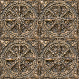 Metal decorative pattern. Seamless textured metal decorative pattern stock photo