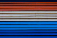 Metal del cinc de Beautyful rojo, azul, blanco o textura imagen de archivo