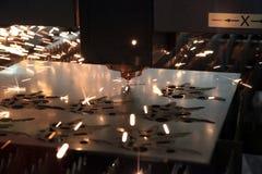 Metal del corte del laser foto de archivo libre de regalías