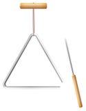 Metal del instrumento de música del triángulo ilustración del vector