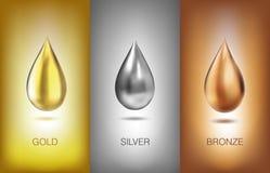Metal del líquido del aceite Ilustración del vector Imágenes de archivo libres de regalías