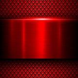 Metal del rojo del fondo Foto de archivo libre de regalías