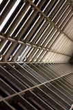 Metal design of an interior in a modern building, architecture Royalty Free Stock Image