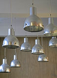 Metal design lights Stock Photo