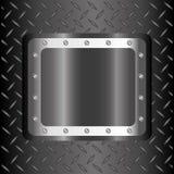 Metal design, vector illustration. Stock Image