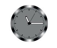 Metal design wall clock Stock Photos