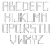 Metal designer alphabet Royalty Free Stock Image