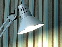 The metal desktop fixture. Stock Image