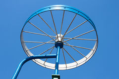 Metal detail as a bicycle wheel Royalty Free Stock Photo