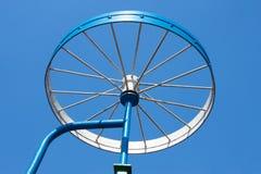 Metal detail as a bicycle wheel Royalty Free Stock Photo