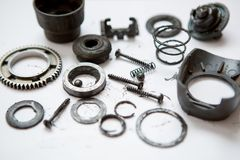 Metal parts dirty Royalty Free Stock Image