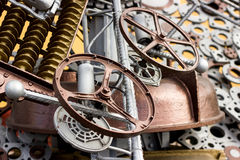 Metal details and gear-wheels Royalty Free Stock Image