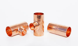 Metal details for waterpipe. And plumbing Stock Images