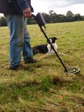 Metal detecting Stock Image