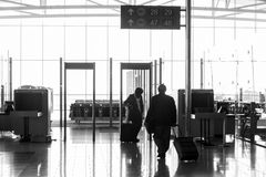 A metal detector at the airport Stock Image