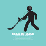 Metal Detector Black Graphic Symbol Royalty Free Stock Image