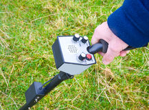 Metal detector close up. Stock Images