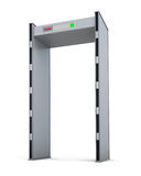 Metal detector door isolated on white background. 3d rendering Royalty Free Stock Photography