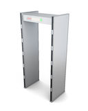 Metal detector door on white background. 3d rendering Stock Image