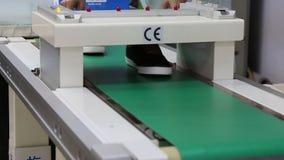 Metal detector machine stock video