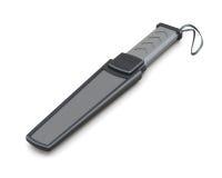 Metal detector tenuto in mano isolato su fondo bianco 3d rendono Fotografie Stock Libere da Diritti