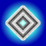 Metal diamond Royalty Free Stock Image