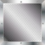 Metal diamond plate. Illustration of metal diamond plate Royalty Free Stock Photography