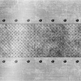 Metal diamond plate Stock Photography