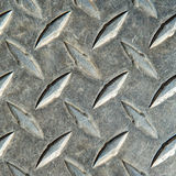 Metal diamond plate pattern and background Royalty Free Stock Photography