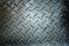 Metal diamond plate   in silver color Royalty Free Stock Photo