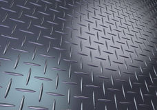 Metal diamond plate texture Stock Photos