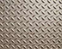Metal diamond textured steel plate Stock Photos