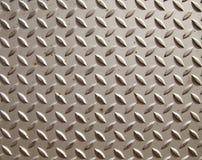 Metal diamond textured steel plate. Silver diamound textured steel plate Stock Photos