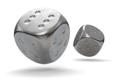 Metal Dice Royalty Free Stock Photography