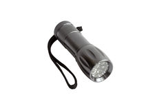 Taschenlampe lokalisiert mit Weg Lizenzfreie Stockfotografie
