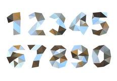 Metal die zerknitterten Ziffern, die auf weißem Hintergrund lokalisiert werden Lizenzfreie Stockfotografie