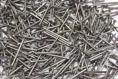 Metal different nails Stock Photo
