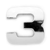 Metal digit - 3 Stock Images
