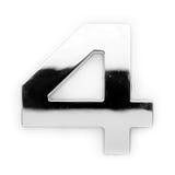 Metal digit - 4 Stock Photo