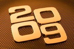 Metal digits - 2009 Stock Image