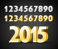 Metal digits collection. Happy new 2015 year Stock Photo