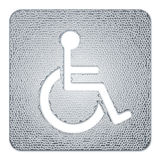Metal disabled badge Royalty Free Stock Photography