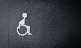 Metal Disabled Sign Stock Photo