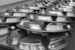Metal dishware Royalty Free Stock Images