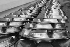 Metal dishware Royalty Free Stock Photos