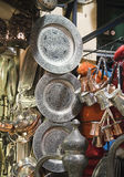 Metal dishware shop Stock Images
