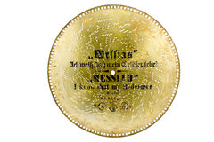 Metal disk from antique musical box Royalty Free Stock Photography