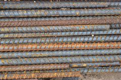Metal. Division re-bar old Rust due to improper storage Stock Photo