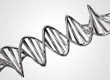 Metal DNA chain Royalty Free Stock Photos