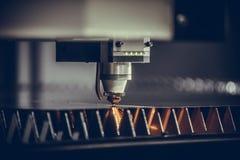 Metal do corte do laser Fotografia de Stock